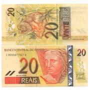 C308 Cédula Brasil 20 Reais CA (Mantega/Tombini) FE