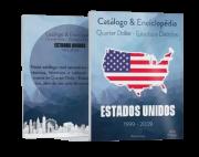 Catálogo & Enciclopédia Quarter Dollar Estados E Parques EUA
