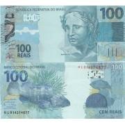 Cédula 100 Reais HL (Meirelles/Ilan) FE