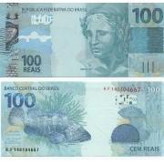 Cédula 100 Reais KF (Guedes/R.Campos) FE