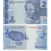Cédula 2 Reais FA Henrique Meirelles/ Ilan Goldfajn- FE