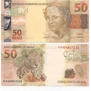 Cédula 50 Reais BA Guido Mantega/Henrique Meirelles FE