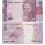 Cédula 5 Reais HC  Paulo Guedes/Roberto Campos FE