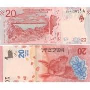 Cédula Argentina Fauna  20 pesos FE