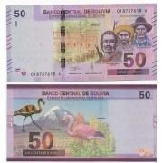 Cédula Bolivia 50 Bolivianos FE