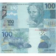 Cédula Brasil 100 Reais HL (Meirelles/Ilan) FE
