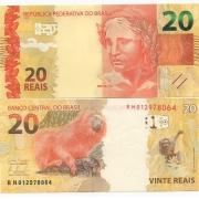 Cédula Brasil 20 Reais BH (Mantega/Tombini) FE
