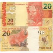Cédula Brasil 20 Reais DC (Levy/Tombini) FE