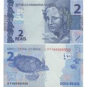 Cédula Brasil 2 Reais DF (Meirelles/Tombini) FE