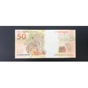 Cédula Brasil 50 Reais AA (Mantega/Meirelles) FE