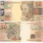 Cédula Brasil 50 Reais GE (Barbosa/Tombini) FE