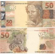 Cédula Brasil 50 Reais HA (Meirelles/Ilan) FE