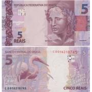Cédula Brasil 5 Reais CD (Levy/Tombini) FE