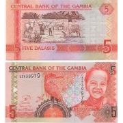 Cédula Gâmbia 5 Dalasis 2006 FE