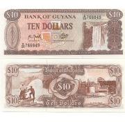 Cédula Guiana 10 Dólares FE
