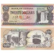 Cédula Guyana 20 Dollars Flor de Estampa