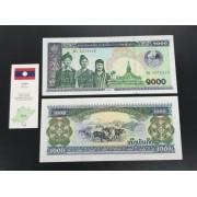 Cédula Laos 1000 Kips - Flor de estampa (FE)