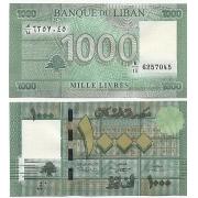 Cédula Líbano 1000 Livres FE