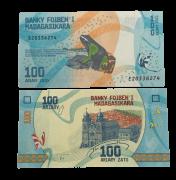 Cédula Madagascar 100 Ariary - 2017 FE