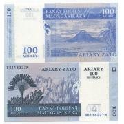 Cédula Madagascar 100 Ariary FE