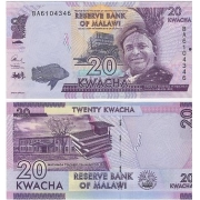 Cédula Malawi 20 Kwacha FE