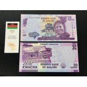 Cédula Malawi - Flor de estampa