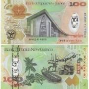 Cédula Papua Nova Guiné 100 Humdred Kina FE