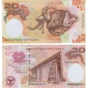 Cédula Papua Nova Guiné 20 Kina FE