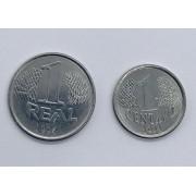 Conjunto 1994 1 centavo 1 R MBC