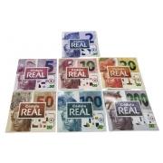 Conjunto com 7 Folders Encarte para Cédulas do Real - 2ª Família