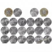 Conjunto de 22 peças japão tóquio jogos 100 500 yuan moedas
