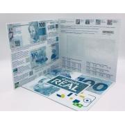 Folder Encarte para Cédula de 100 Reais - 2ª Família