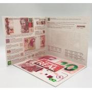 Folder Encarte para Cédula de 10 Reais - 2ª Família