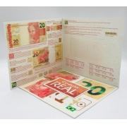 Folder Encarte para Cédula de 20 Reais - 2ª Família
