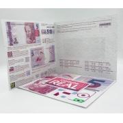 Folder Encarte para Cédula de 5 Reais - 2ª Família