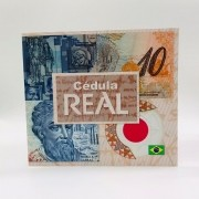 Folder não oficial 10 reais polímero + Cédula Pedro A. Cabral - MBC
