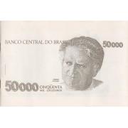 Folder- Oficial da Casa da Moeda do Brasil  50 000  Cinquenta Mil Cruzeiros