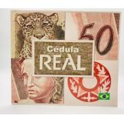 FOLDER PARA CÉDULA DE 50 REAIS 1 FAMILIA
