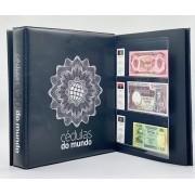 Kit  Álbum Cédulas do Mundo + 30 folhas