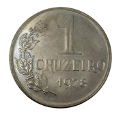 Moeda 1 Cruzeiro 1978 - Flor de Cunho