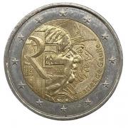 Moeda 2 Euros  França 2 euro, 2020 Cinquentenário da Morte de Charles de Gaulle