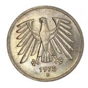 Moeda Alemanha 5 Marcos 1975 SOB