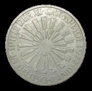Moeda Alemanha Comemorativa 10 Marcos G 1972 SOB