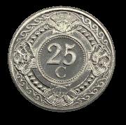 Moeda Antilhas Holandesas 25 Cêntimos 1997 SOB