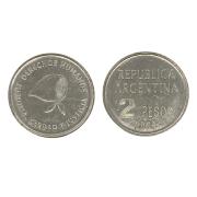 Moeda Argentina 2 pesos, 2006 Comemorativa dos Direitos Humanos