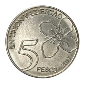Moeda Argentina 5 Pesos 2017 FC