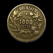 Moeda Brasil 1000 Réis 1924 MBC
