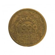 Moeda Brasil 1000 Réis 1939 Tobias Barreto MBC