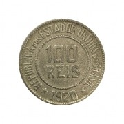 Moeda Brasil 100 Réis 1920 MBC
