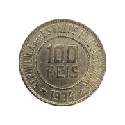 Moeda Brasil 100 Réis 1934 MBC